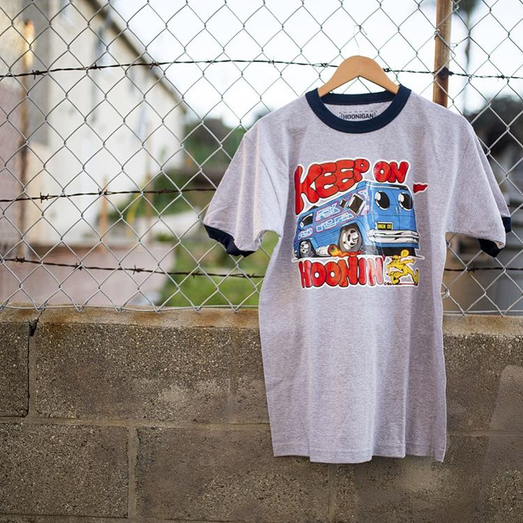 ...till the wheels fall off. The Keep on Hoonin' tee, just one of the new styles dropped on #hooniganDOTcom.