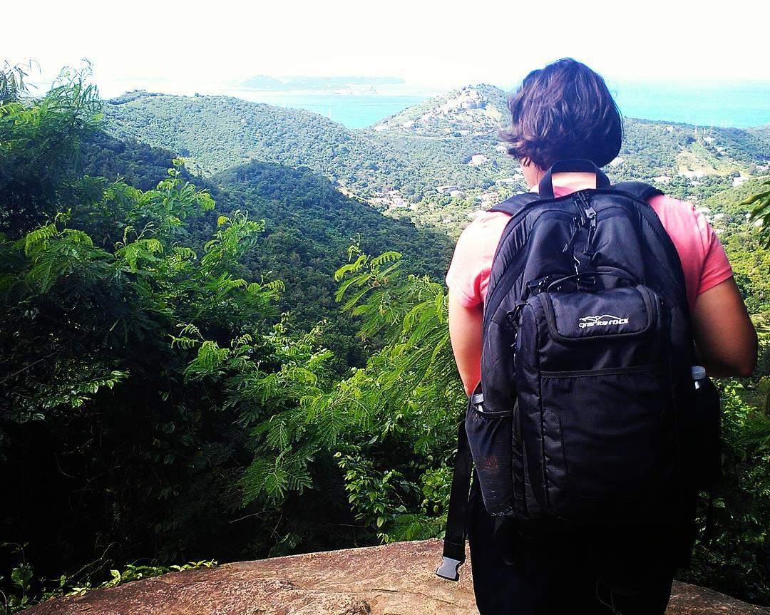 Hiking Pic Paradise with the Tahoe backpack and cooler in St. Martin!  Thanks for the shot Cathy! #hiking #islands #getoutside #adventure #backpacks #coolers #graniterocx #outdoorsrocx
