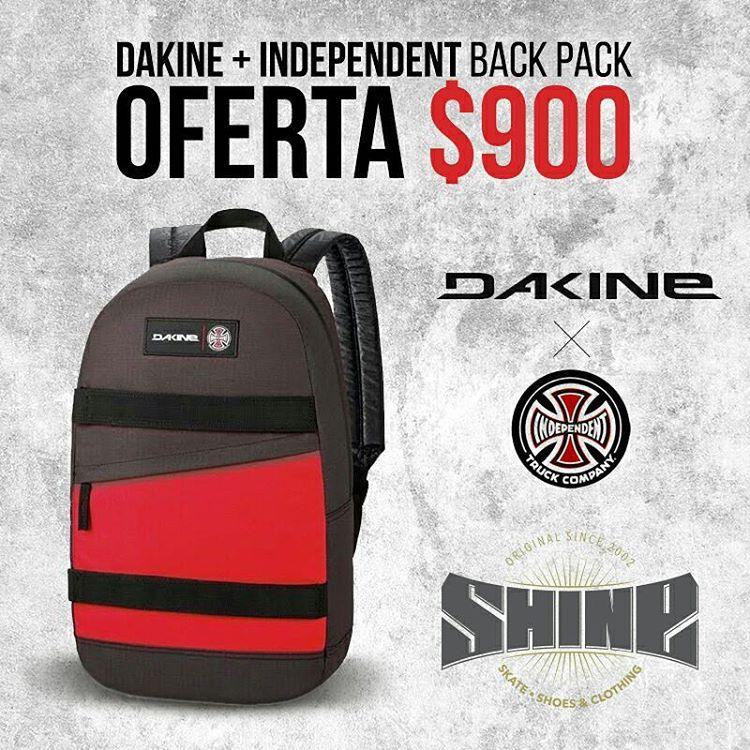 Una de las mejores marcas de mochilas #dakine en colaboracion con #independenttrucks con porta skate !!
