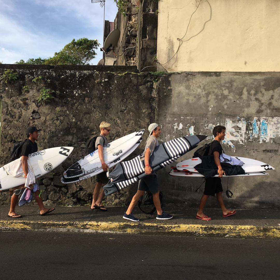 The boys are on the move in Martinique. #lifesbetterinboardshorts