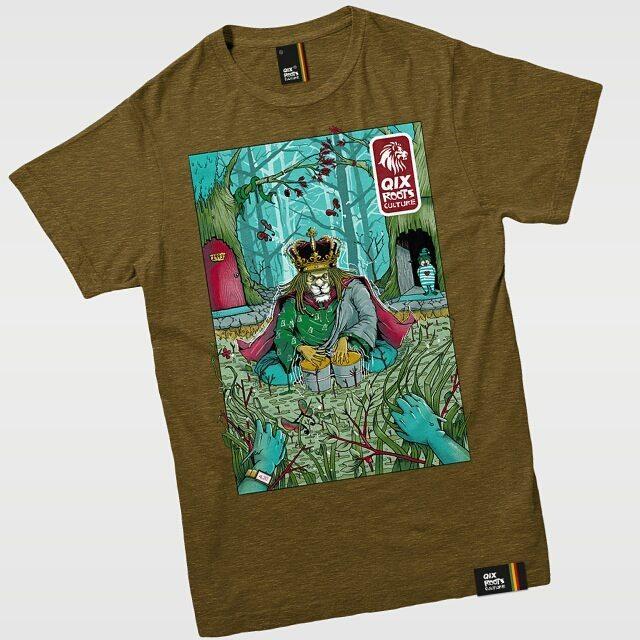 Camiseta Qix Roots Art - Tabaco Disponível também nas cores branca e preta. Confira em: lojaqix.com.br  #Qix #Roots #Rockart