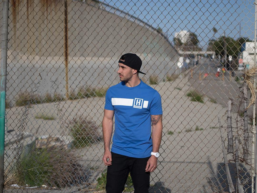 @alechohnadell rocking our new H-logo tee. Available now on #hooniganDOTcom!