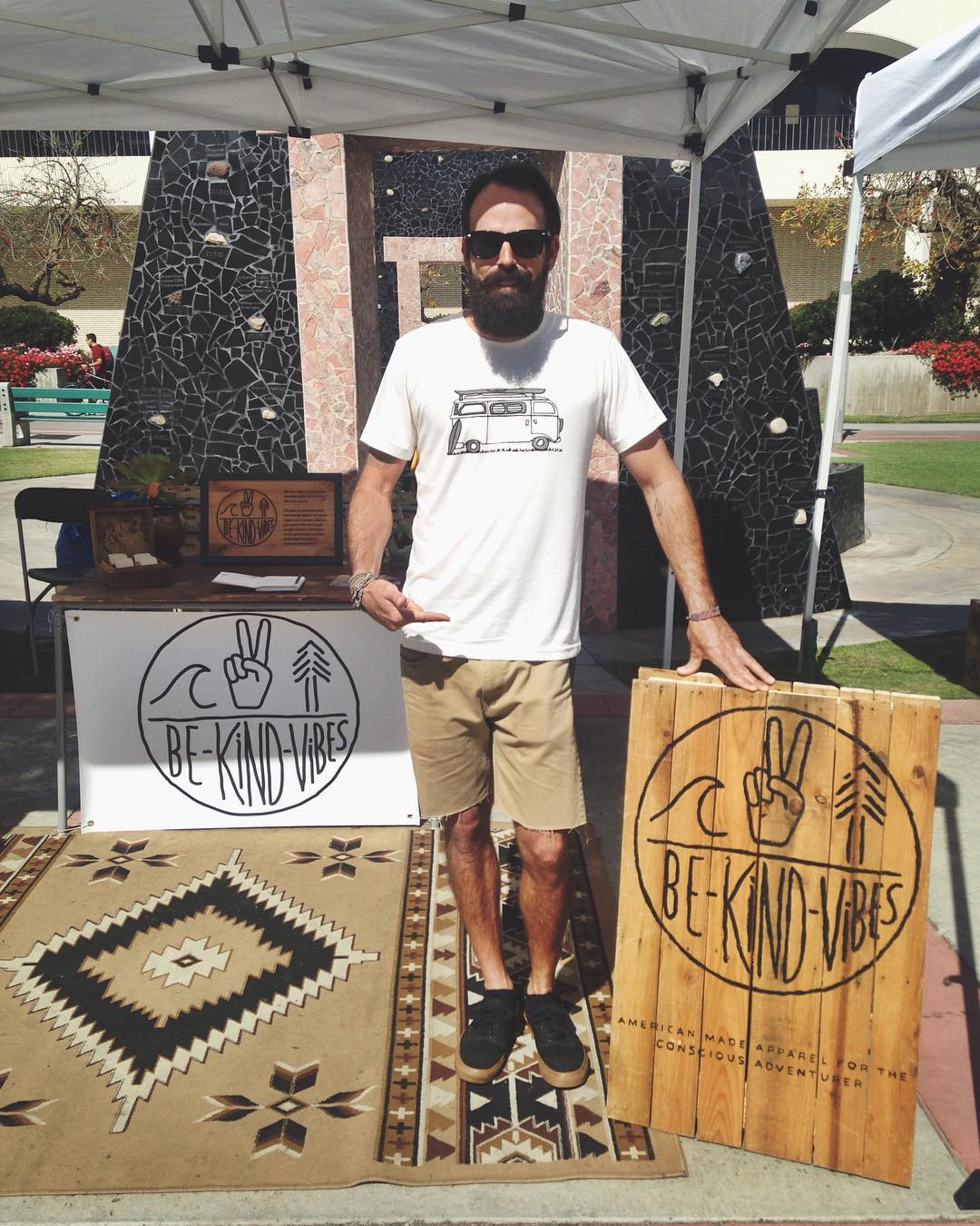 ~ Tribe Gathering ~  Tribe Ambassador @timrasmussen23 is holding down the pop up shop at SDSU for the Enviro Faire today!  Swing by and hang out, we'll be here until 3pm. ------------------------------------------ #bekindvibes #bekindtribe...