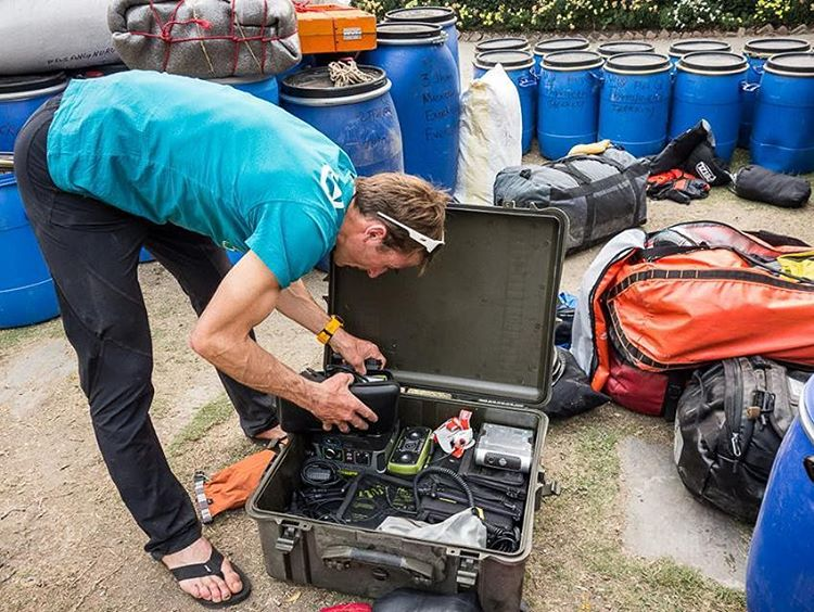 @uelisteck packing up in Kathmandu to head for Shishapangma. #GetOutStayOut  Photo: @danpatitucci
