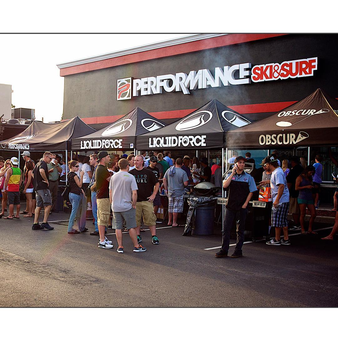 Join us at @perfski tonight for another good 'ole Liquid Force Tailgate Party!  Free gift bag with every LF purchase, Wake Open registration and most importantly free food!  #WeBeGrillin #LiquidForce