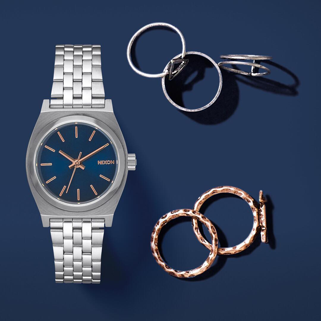 Just enough. The Small #TimeTeller is a  #Nixon classic, scaled down for petite done right.