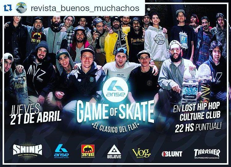 Allí estaremos acompañando a nuestros team riders @tuma_hgsb_rido & @dadypenayo  Gracias #arisetrucks x la convocatoria ✌  #gameofskate #slp #slpskateboards #skateboarding #losthiphop