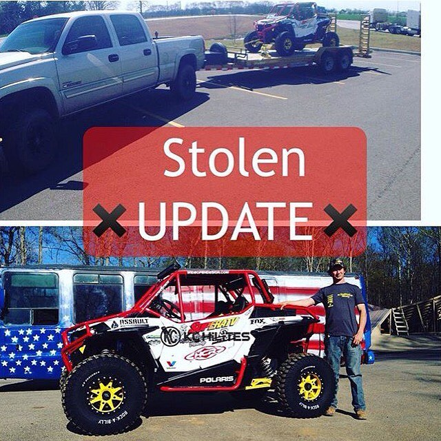 STOLEN: my friend @nitrorednekhubert's truck, trailer, and UTV were stolen last week from the Double Tree hotel in Oak Ridge, Tennessee. Head over to his page for updates and more info, including a Nitro Circus-style reward to whoever finds it. Sucks...