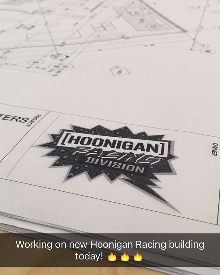 Big things coming: we're building an all-new Hoonigan Racing HQ + retail store right here in Park City! Sneak peek at the plans/CAD renderings on my Snapchat right now … peep it on there at KBlock43.