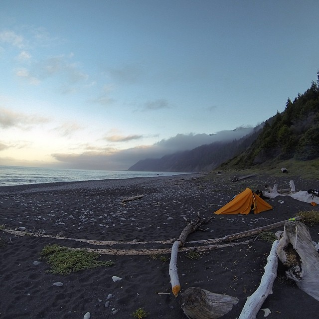 We had views for days on #thelostcoast which = photos for days of #outdoorinspiration so #getmovinghavefun // #wild #Californian #gopro #camping #campvibes #backpacking #camptrends #offthegrid