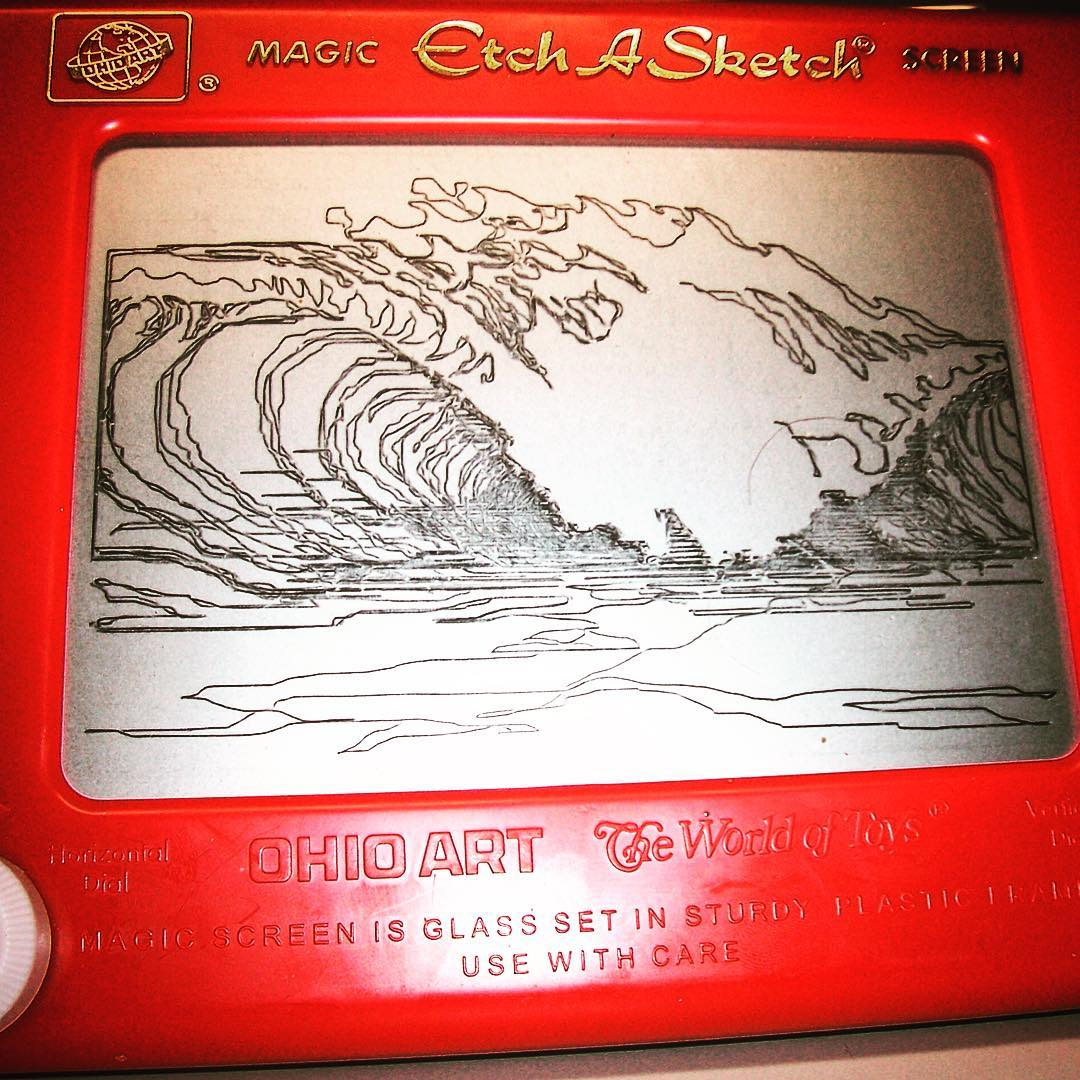 Forgot how fun these are. #mindsurf #surfart #etchasketch #paddleout