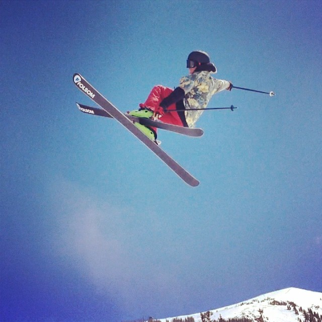 @chillovision throwing down a perfect cork 7 #freeskierfest style on the 183 triggers @coppermountain
