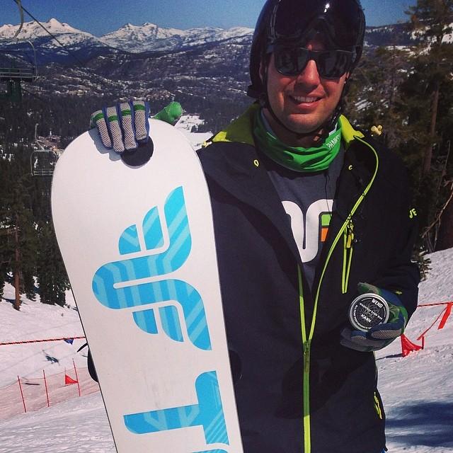 Tuning up at #kirkwood #bankedslalom #snowboard @dougfagel @wendwaxworks