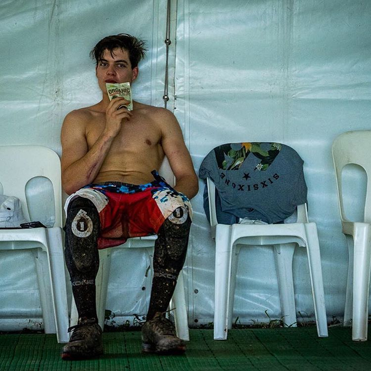 @lorisvergier attempting to chill after Cairns DH day 1! We've just dropped our practise gallery onto the blog... Check out some sweet images from the jungle > sixsixone.com/blog #CairnsWorldCup2016 Photo - Matt Delorme #SixSixOne #661Protection...