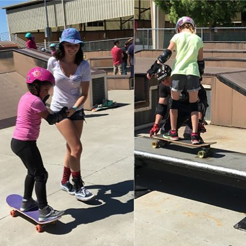 Last week @exposureskate co-founder @ameliabrodka and volunteer @skatingfashionista joined @sillygirlskateboards in teaching @girlscouts how to skate! Check out Jordan's write-up by clicking the link in our bio
