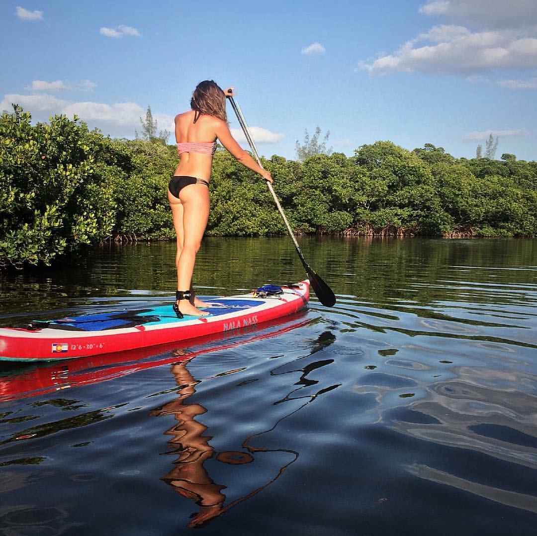 """Do not spend your life searching for a place to call home make the bones in your skeleton the only structure you need ..."" - Haley Hendrick  Team rider @flowathlete out on her #HalaNass.  #halagear #adventuredesigned #paddlewithfriends #isup..."
