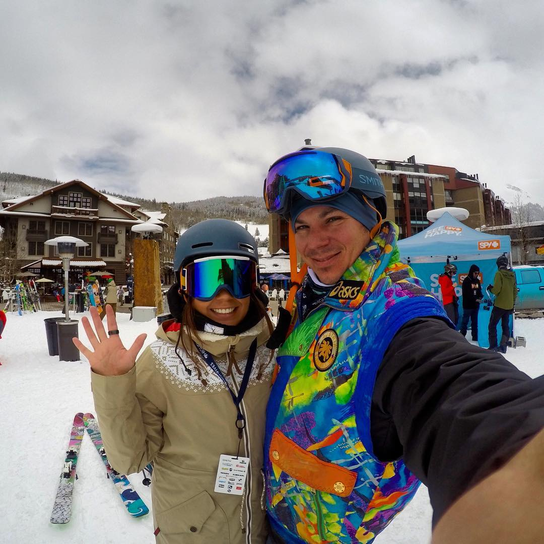 HIGH FIVE from the King & Queen of High Fives #NationalHighFiveDay @gopro #gopro #goprosnow