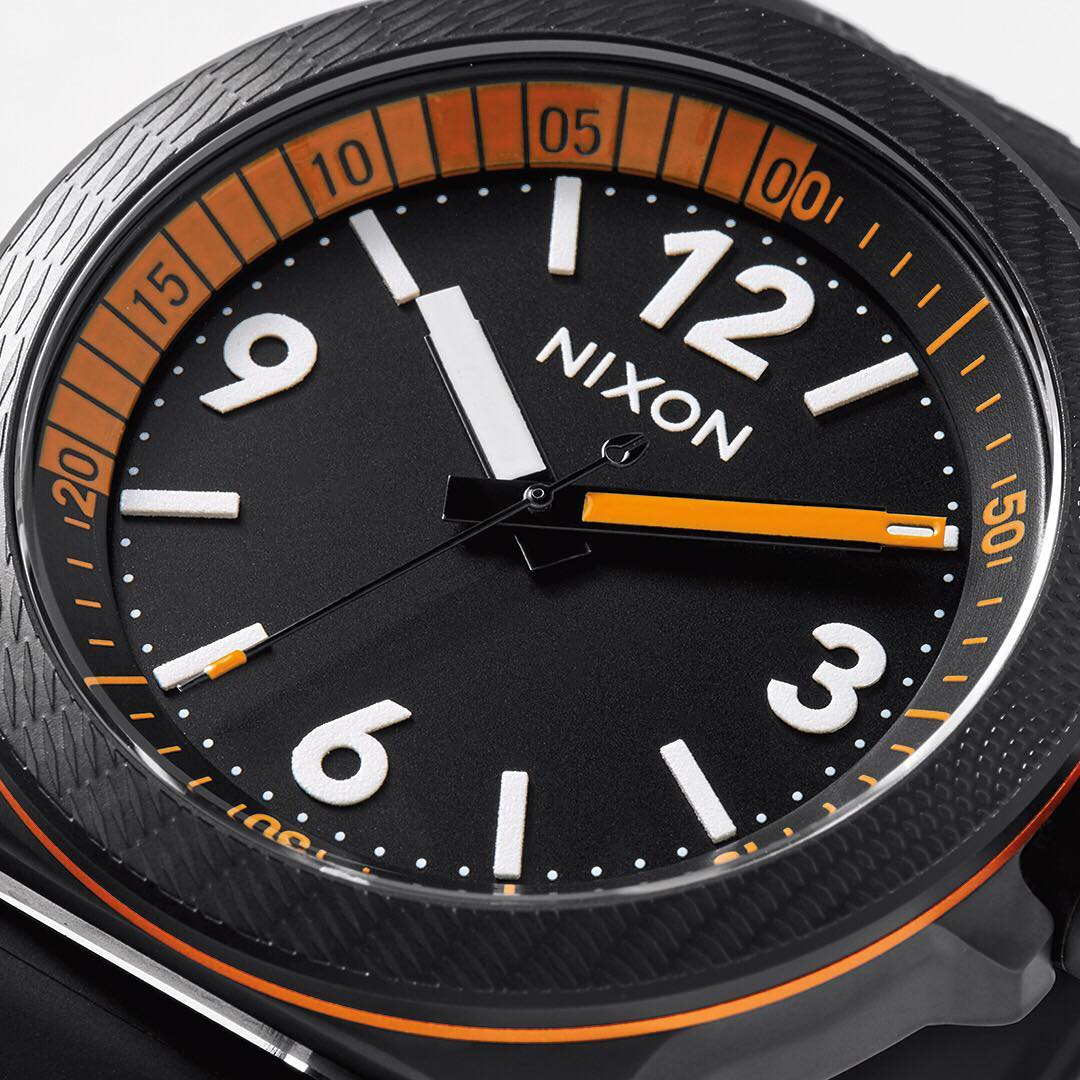 Precise not pretentious. Simple lines come together for a modern look with a laid back attitude in or out of the water. #Cardiff Sport. #Nixon