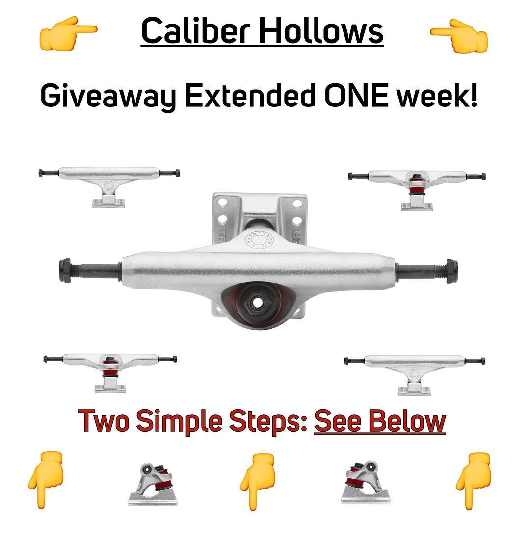 @caliberskate is hooking it up for another week‼️ 1. GO FOLLOW @caliberskate  2. Like their giveaway post