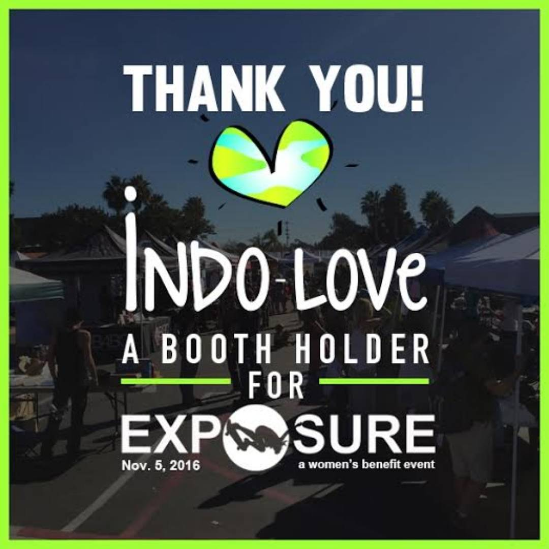 "We are excited to see @indolovejewelry at this year's Exposure! They create one of a kind, ""Yoga and Ocean Inspired"" jewelry, inspired with love and positive vibes <3"