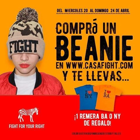 Aprovecha estos cuatro días y llévate una remera comprando un beanie @fightforyourrightok ! #actitudfight  www.casafight.com