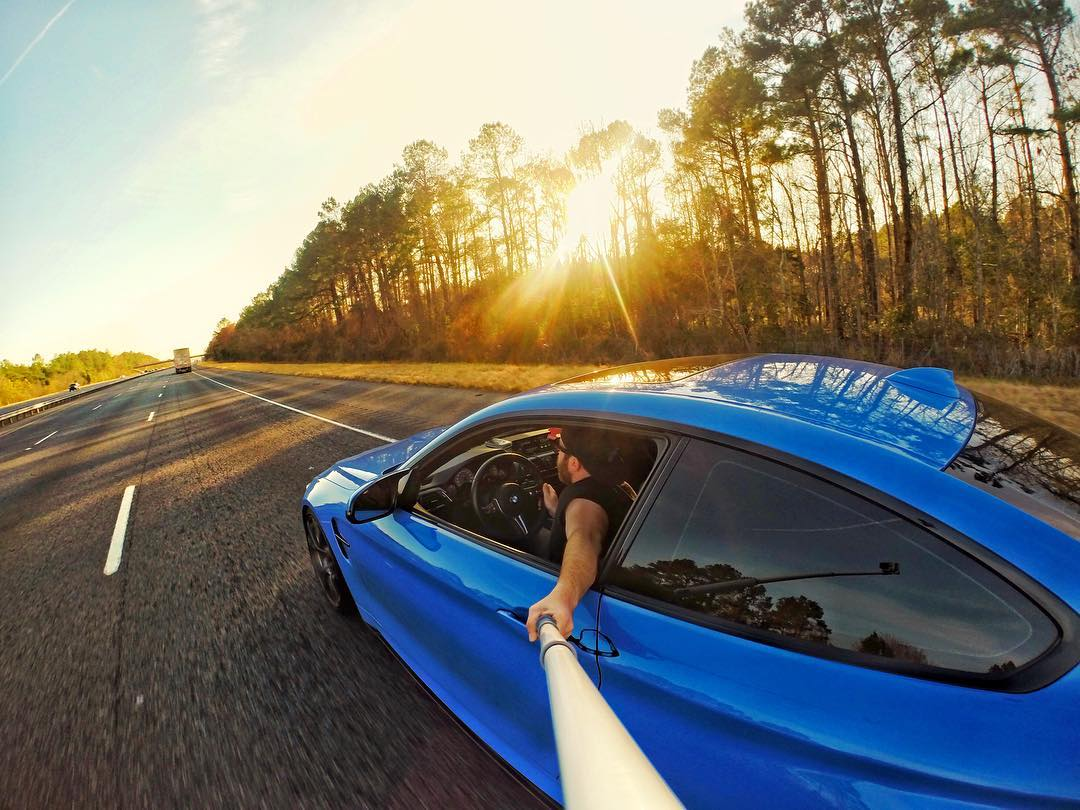 "@nickwavey says, ""So often we become so focused on the finish line, that we fail to enjoy the journey!"" #gopro #gopole #gopolereach #bmw #m4 @bmw"