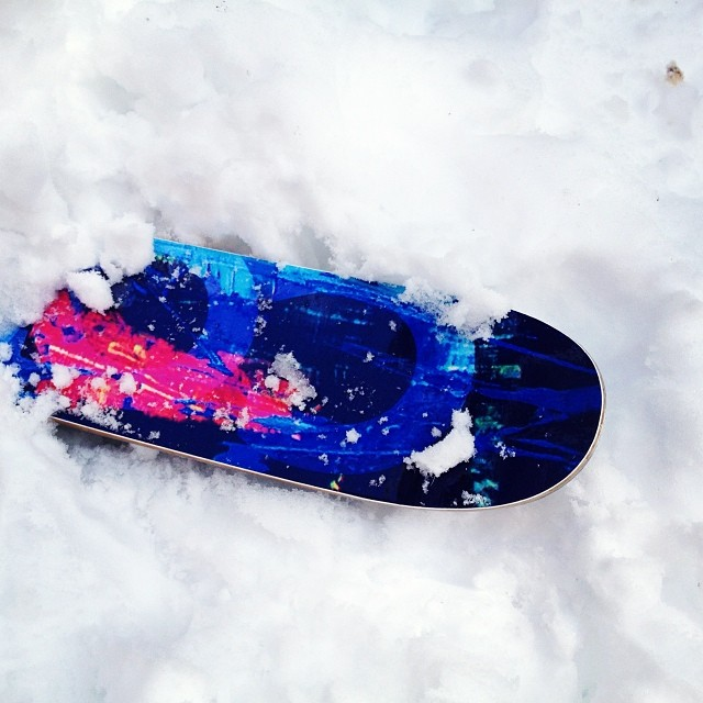 Last week's storm is melting away. We'll see how bamboo sidewalls hold up through the rain, then snow, then thaw. #skiing #producttesting #Tahoe