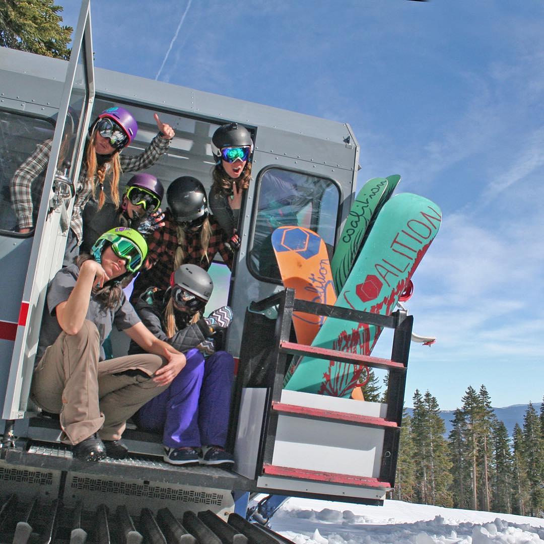 It's hard being so damn cool.  @skihomewood  #sisterhoodofshred #catskiing #skiing #snowboarding #babes #skilikeagirl #california #laketahoe