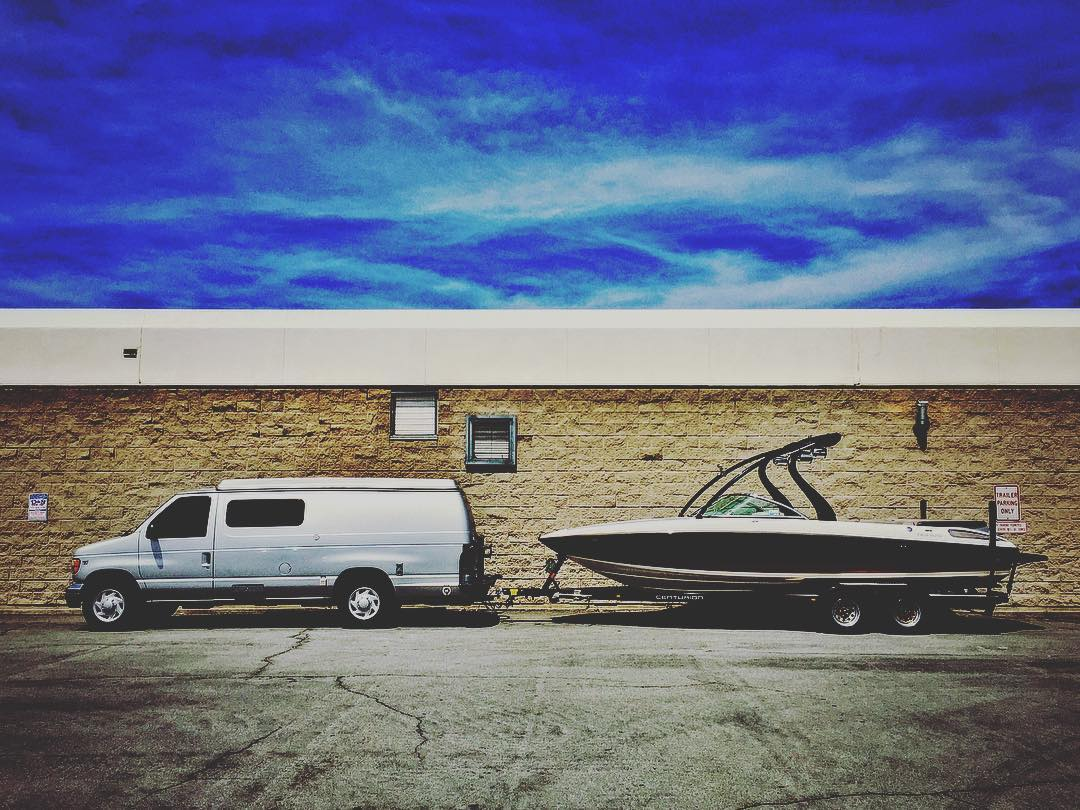 #VanDiesel is a towing beast - let the good times roll (or glide)