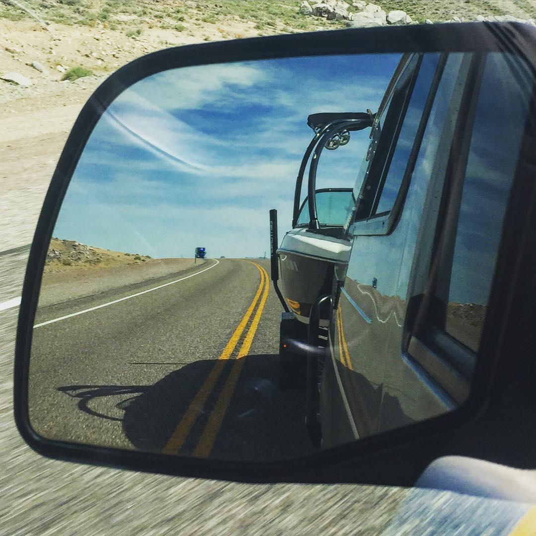 Middle of Nevada ~ in bound #LakeHavasu Arizona w/ a rad team, to #hydrofoil warm water w/ a rad crew!!!! #teamcenturionboats | #VanDiesel | @bodyglove_wake | @roswellmarine | @hiballenergy | @centurionboats | @navitas | @bigtruckbrand | #sportsmobile...