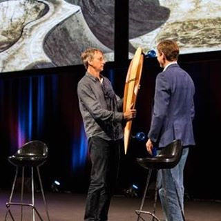 @tonyhawk  receiving his very own #warrenpieces pintail from #Sophos in #cannes over the weekend. #Legend. We are humbled. #thankyouthankyouthankyou