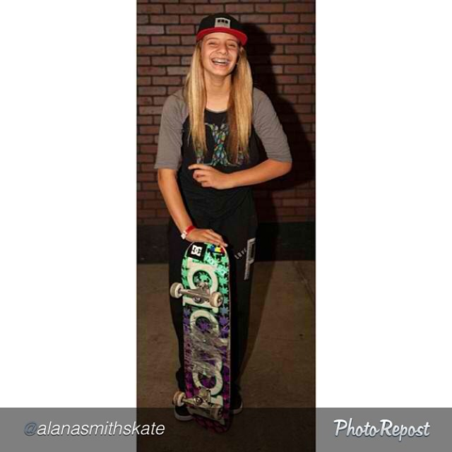 "#Skateboarding = happiness. #Laugh as much as you can, every day. #skate #skateboard #skatelife #smile #alanasmith by @alanasmithskate ""I laugh a lot as you can see"
