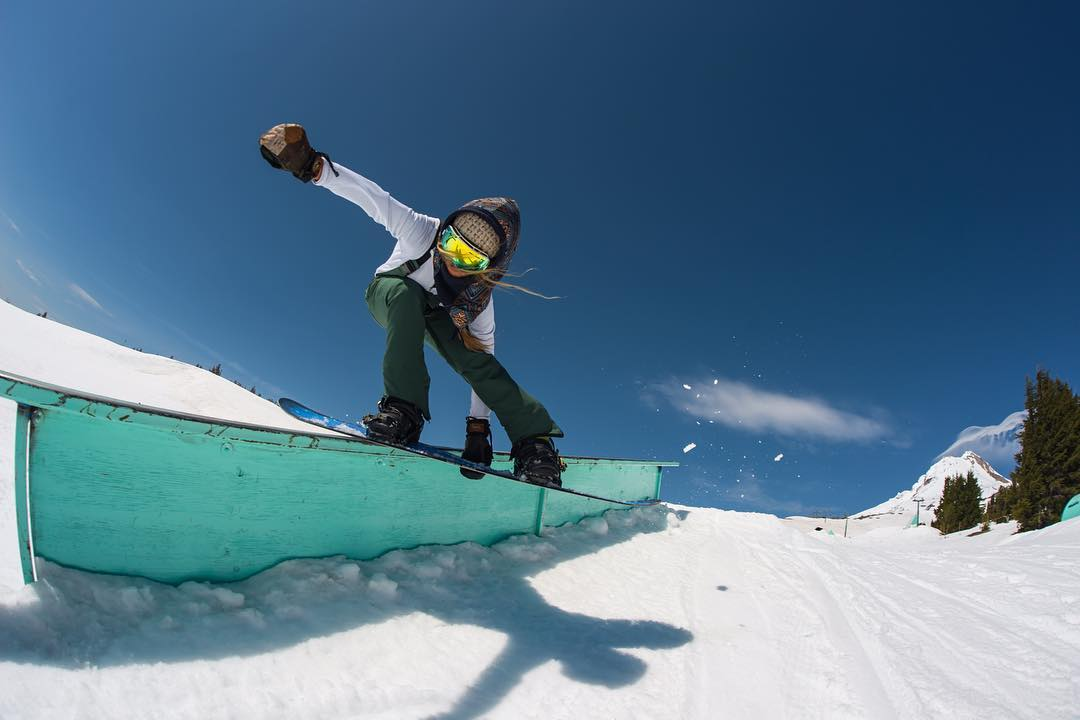 Team rider @erikathevikingvikander has been gettin' REAL steezy up at @mthoodmeadows lately.