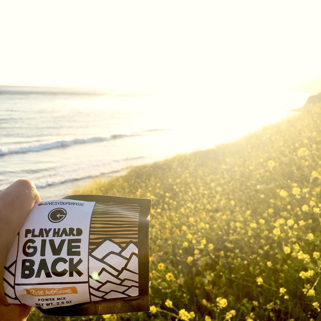 Good morning, world! Where are you catching the sunset tonight? We were down in #santabarbara the other day, what a beautiful place! #trackthetrailmix #phgb #playhardgiveback #givesyoupurpose