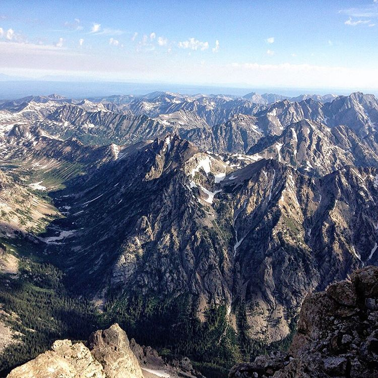 Celebrating our neck of the woods today with this view toward @yellowstonenps from the top of the #GrandTeton.  We have a responsibility to work together to protect the places we love to play. Use this #EarthDay to start giving back by visiting our...