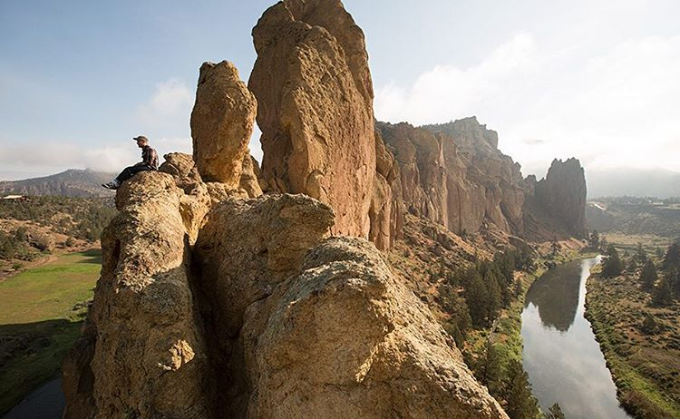This photo of @calezima at Smith Rock is a perfect example of how amazing the earth is. Do your part to keep it turning!