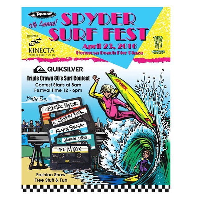 The 9th annual @spyderboards  Surf Fest is tomorrow! Kicks off at 12pm-6pm at Hermosa Beach! Make your way over for some free gear!! #hovenvision #spydersurf #hermosabeach