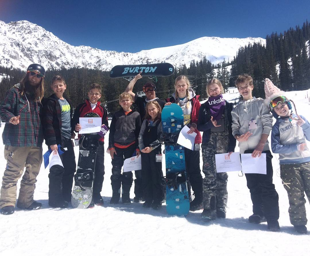 Learn to #Ride wrapped up at @arapahoe_basin yesterday! #Thanks to the #mountain and @phoebs_joy for the picture.