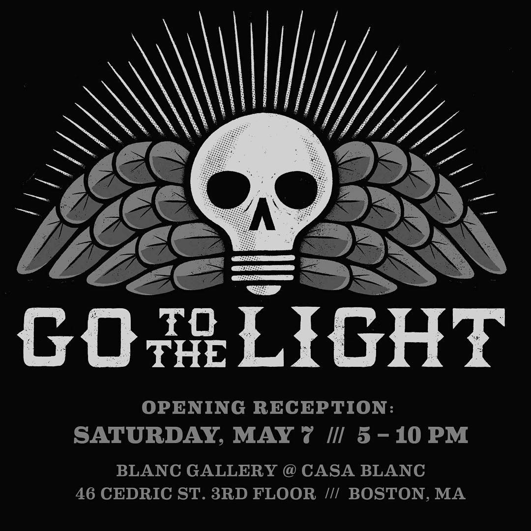 "Stop by Blanc Gallery on May 7th for @trifectaeditions black light poster show ""Go To The Light"" and check out the Back To The Future poster by Steez's Andrew Bablo. #boston #blancgallery #poster #gotothelight #flourescent  #casablanc #artshow"