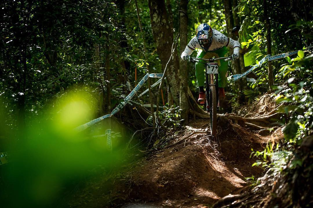WC DH *Spoiler Alert*... BRUNI!! Congrats to Specialized Gravity World Champ Loic Bruni on his first World Cup Downhill win in Cairns! SO STOKED! #SixSixOne #661Protection #ProtectFun Photo - Matt DeLorme #SuperBruni #CairnsWorldCup2016