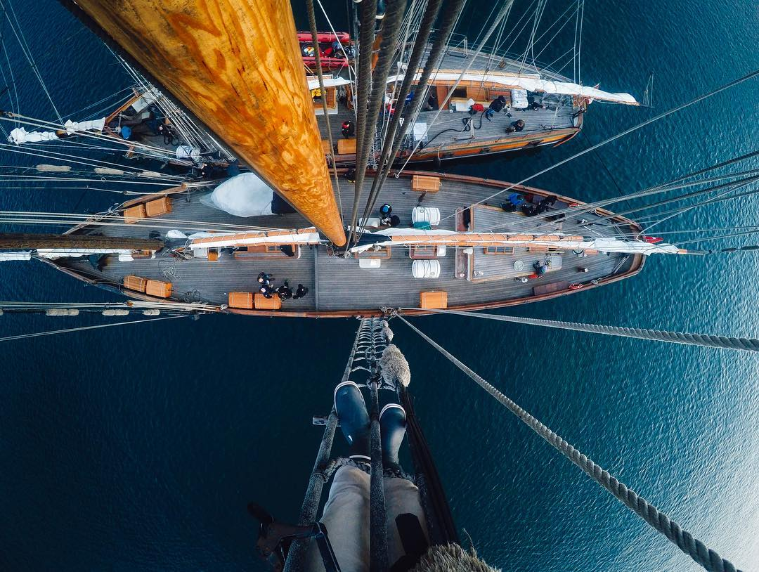Photo of the Day! Life up high with @blakenewbold! Share your weekend views with us via link in bio. #GoPro #⛵️