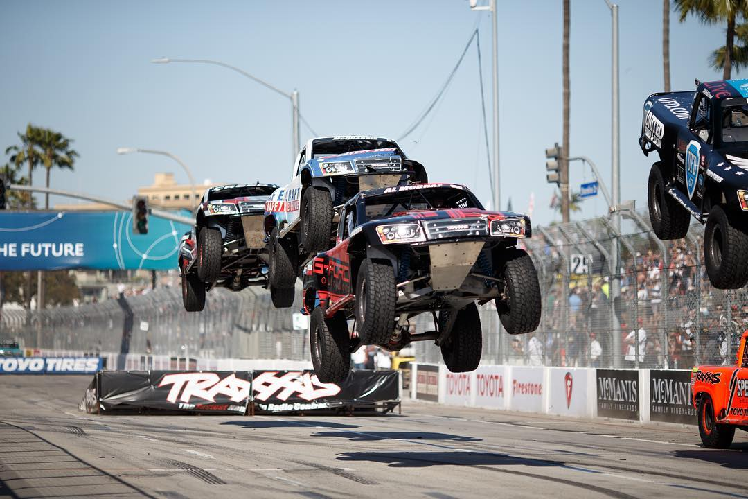Went to the Long Beach Grand Prix last weekend and realized that this is pretty much the rowdiest thing we've seen in a while. #justaintcare  ______ Photo cred: @larry_chen_foto  #stadiumsupertrucks