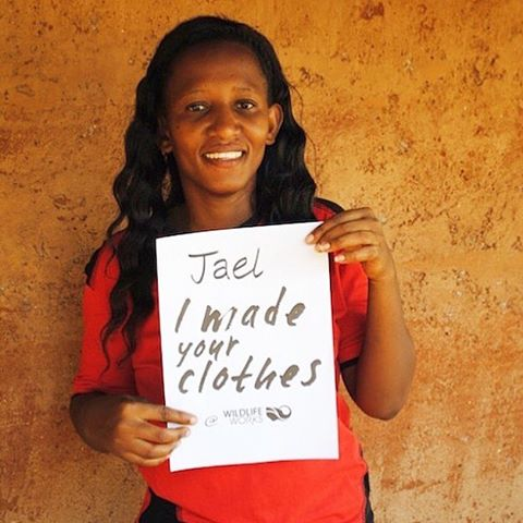 Do you know #whomadeyourclothes?  Meet Jael- Jael works at WildLife Works, one of our Fair Trade Certified factories located inside an 80k acre preserve in Kenya. In honor of #fashionrevolutionweek we are standing by our mission to produce ethically &...