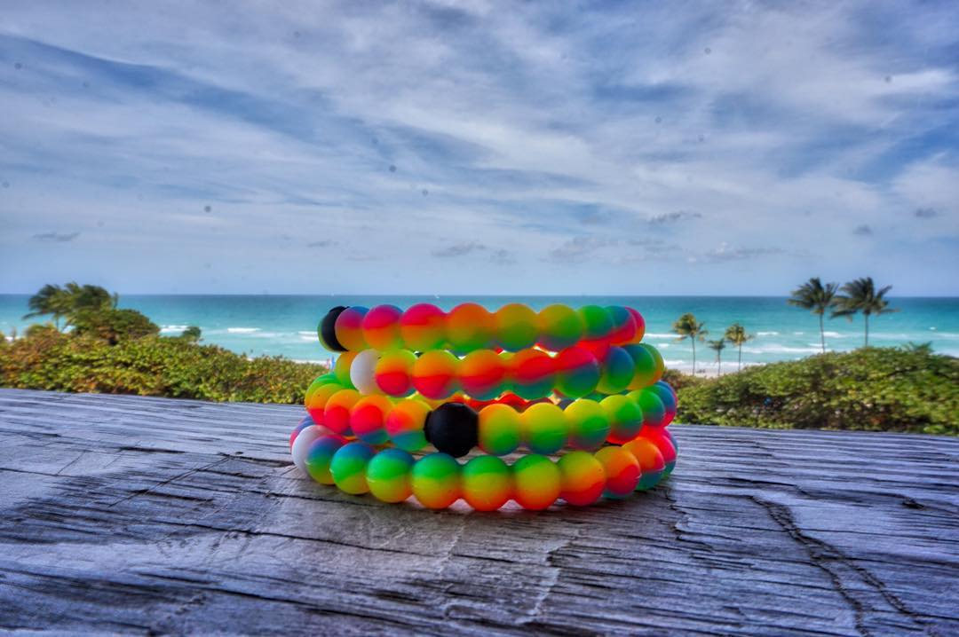 Get decked out in a Lokai stack! #neonwish