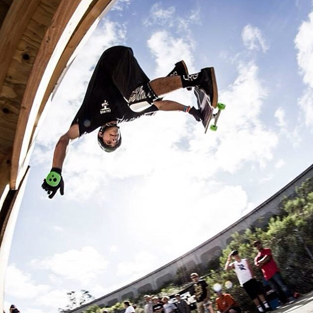 @tyler_howell_sb getting upside down and inside out at the #downhilldisco2014! PC: Alex Ameen