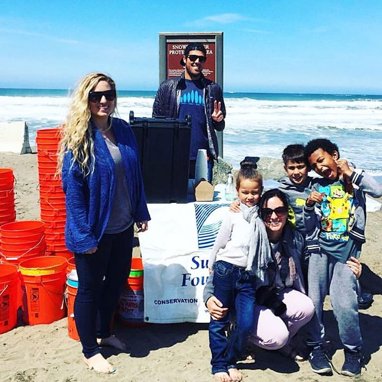 Shout out to some of our stoked #volunteers at this mornings #beachcleanup at the #sloat end of Ocean Beach! #protectandenjoy #OBSF