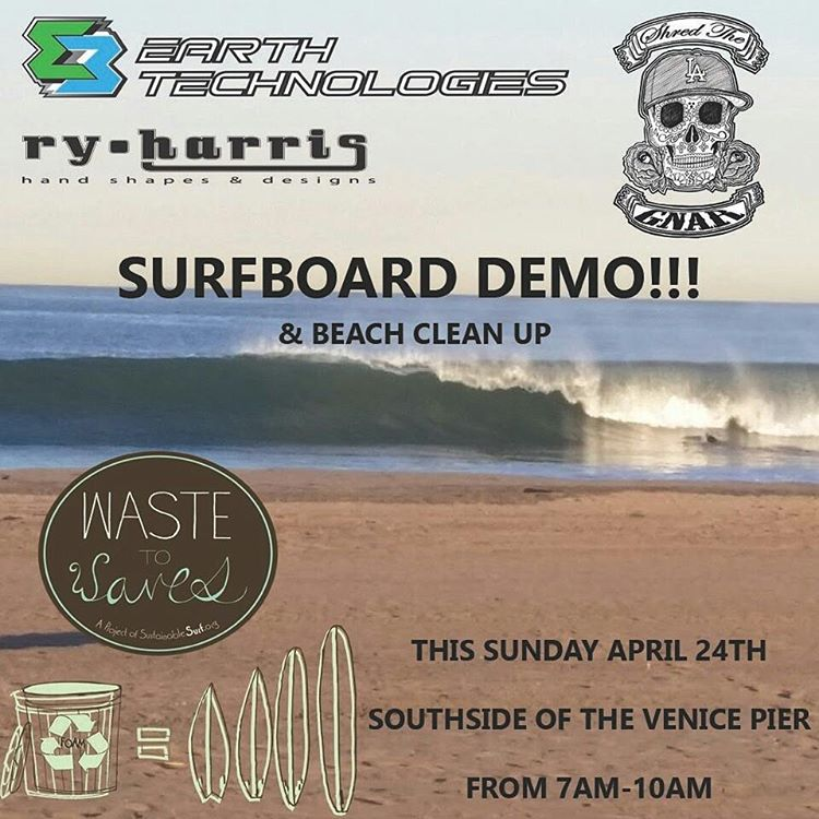 For those who live in SoCal... Check out the Ecoboard demo and styrofoam recycling event happening this Sunday morning April 24th, with Earth Technologies and Sustainable Surf.  Find us at the Venice pier, Southside, 7-10am. Bring any styrofoam...