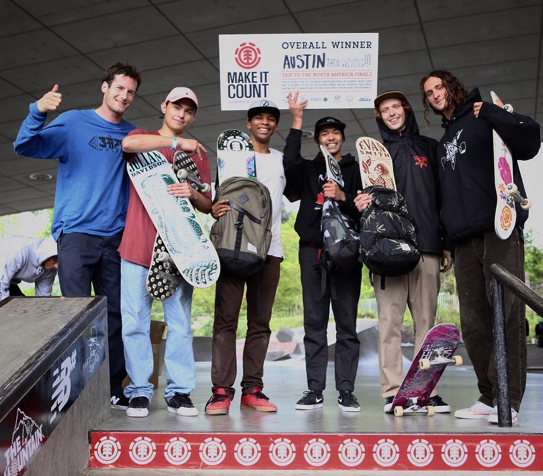 Congratulations to Austin Thongvivong (@Austinthongvivong) on winning today's #elementmakeitcount in Eugene, Oregon and snagging himself a spot in the National Finals for a shot at an all expenses paid trip to Barcelona!