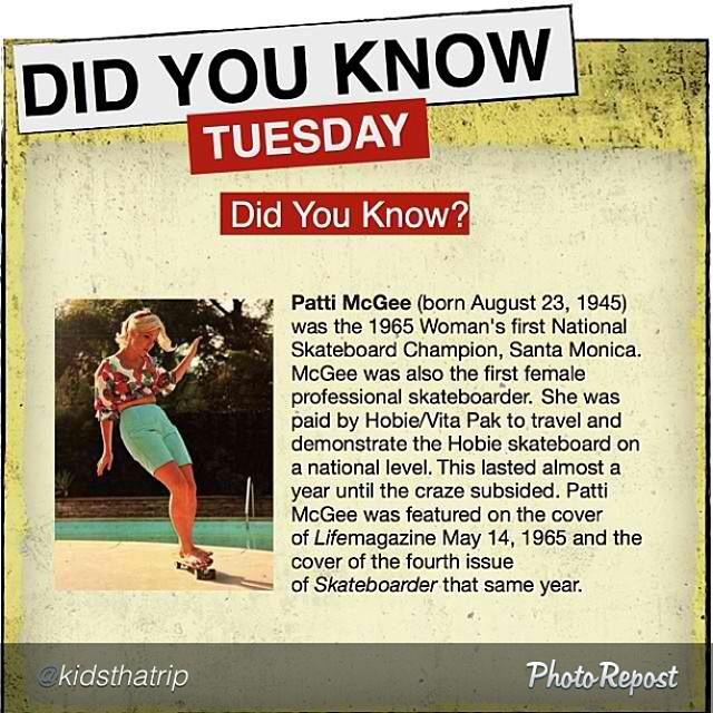 #Pioneer @pattimcgee!!! #skateboarding #skateboard #skate #skatelife #knowyourhistory #legend #og @originalbettyskateco @yeahailey @kidsthatrip