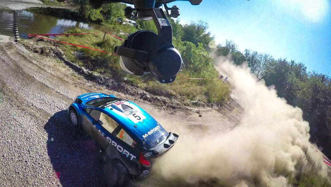 How about that perspective? #DJI @OfficialWRC @rallyargentina #DJIRally